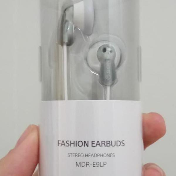 Fone de ouvido sony importado mdr-el9p branco e cinza, novo