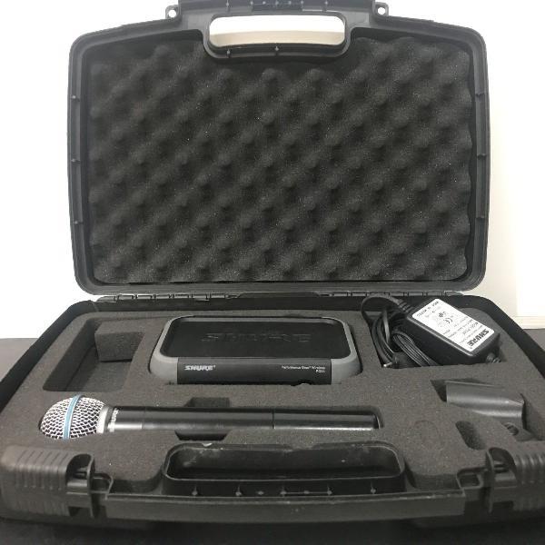 Microfone sem fio shure beta 58a com case [aceito cartão]