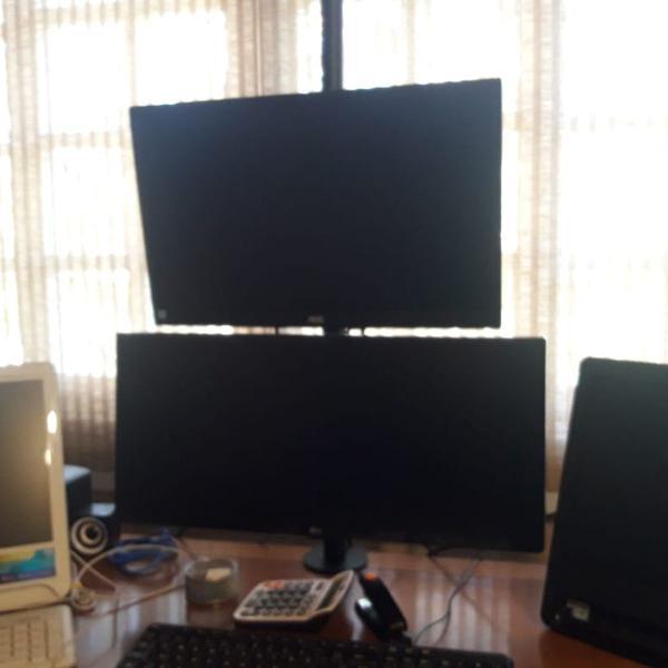 Suporte para 2 monitor vinik vesa ajuste 13' a 32' semi novo