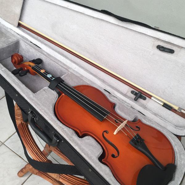 Violino concert 4/4 estojo luxo usado