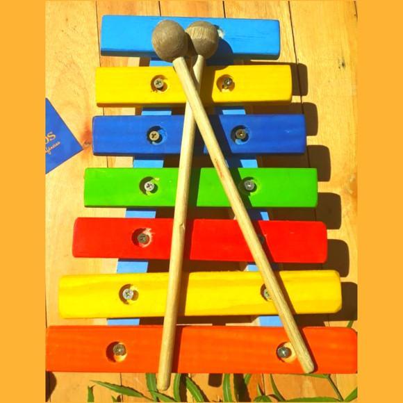 Xilofone madeira (infantil educativo clássico)