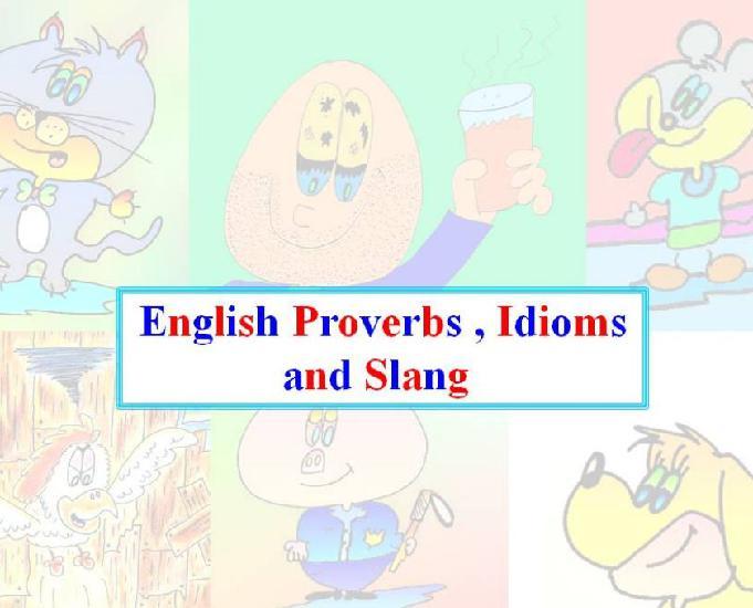 Expressões idiomáticas e gírias da língua inglesa