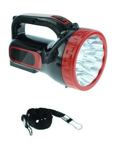 Lanterna farolete 18 led bivolt recarregável longo alcance