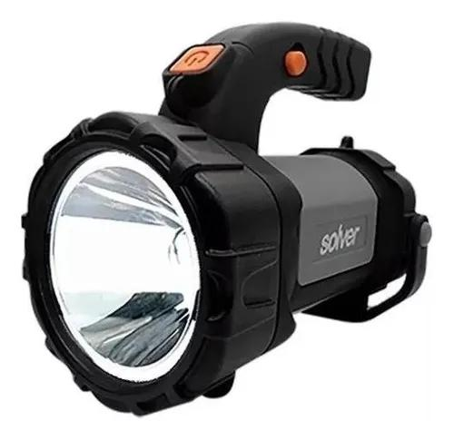 Lanterna holofote pro led cree recarregavel slp-401 - solver