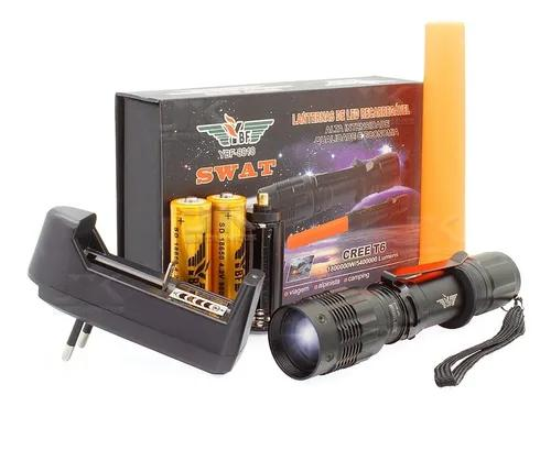 Lanterna led cree police tática recarregavel + bateria