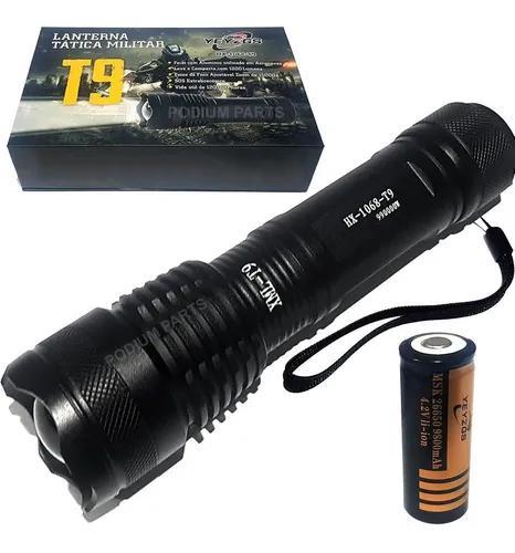 Lanterna led xml t9 tatica militar original +forte que x900