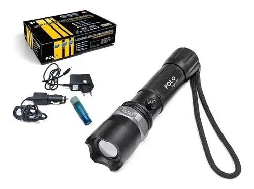 Lanterna tática profissional led zoom recarregável bivolt