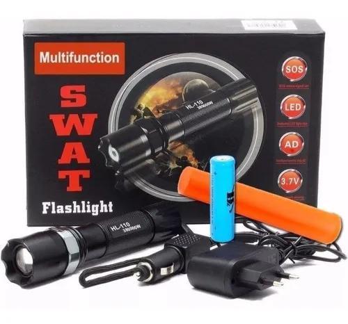 Lanterna tática profissional swat led alta luminosidade