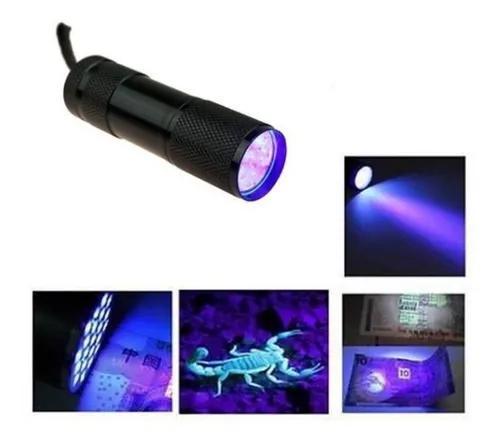 Lanterna uv ultravioleta p/ camping, escorpião, secar cola