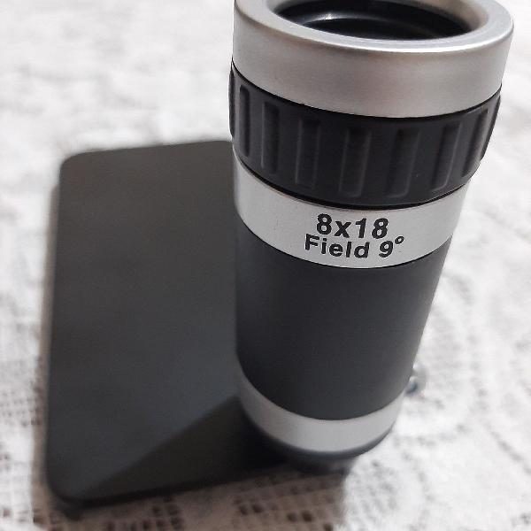 Lente luneta para celular câmera zoom 8x18 com capinha