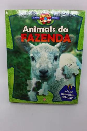 Livro animais da fazenda inclui seis quebra-cabeças para...