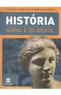 Livro historia geral e do brasil + atlas(mapas de apoio)