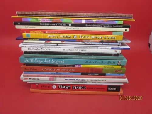 Lote 25 livros infantis paradidáticos assombração