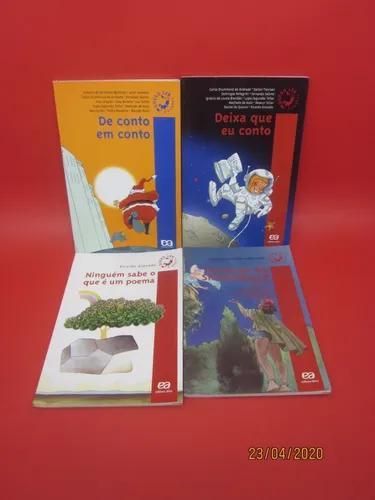 Lote 9 livros quero ler poesia folclore contos clássicos