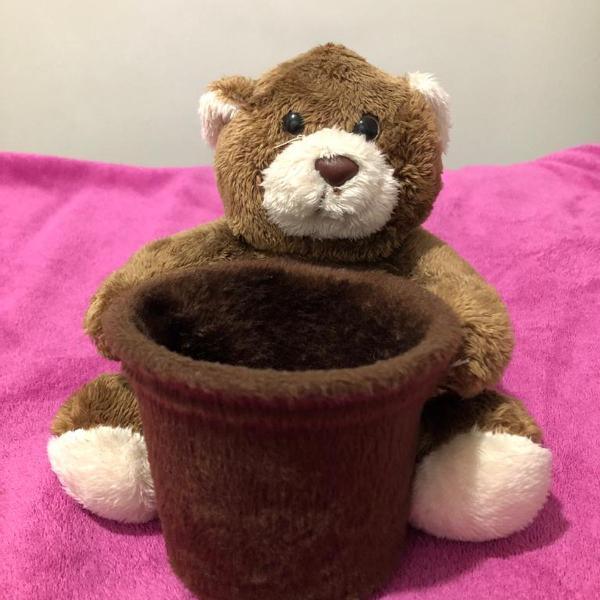 Potinho amorzinho ursinho de pelúcia