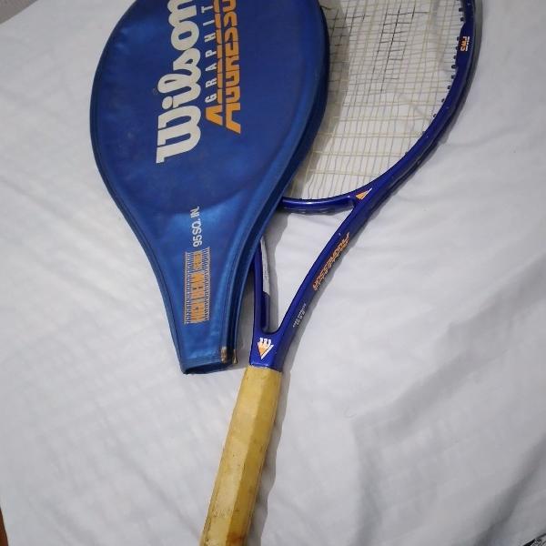 Raquete de tênis wilson graphite aggressor 95 azul