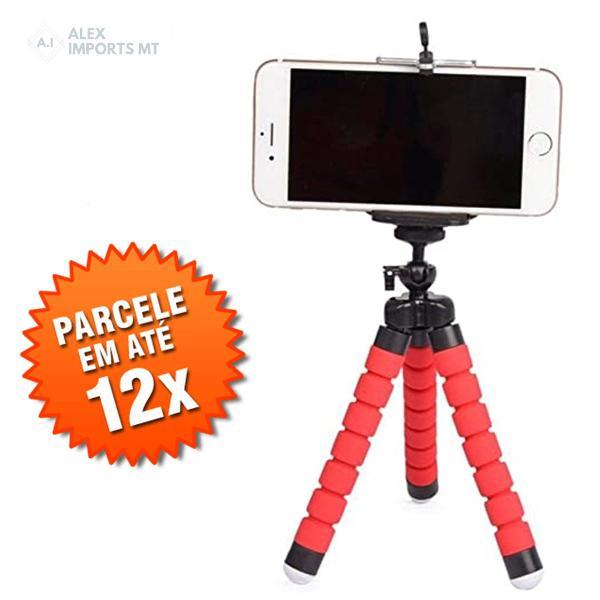 Tripe para celular e camera flexivel tripé de mesa kit
