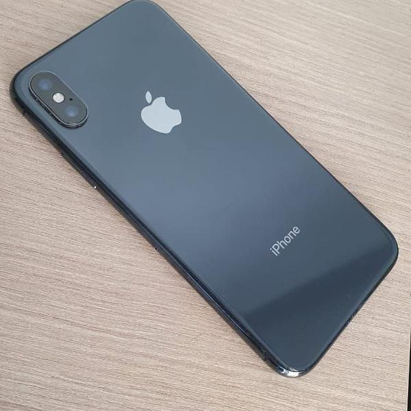 Celular iphone x preto semi novo 64gb