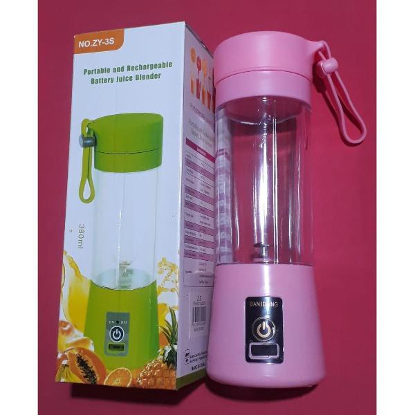 mini liquidificador portátil rosa