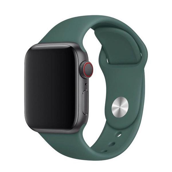Pulseira verde escuro para apple watch 38mm 40mm 42mm 44mm