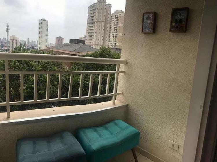 Apartamento 52 m2 com sacada - 2 dorms - 1 vaga - lazer -