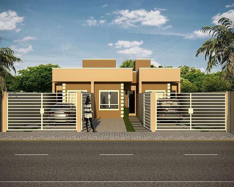Casa geminada no bairro nova brasília com 64 m2.