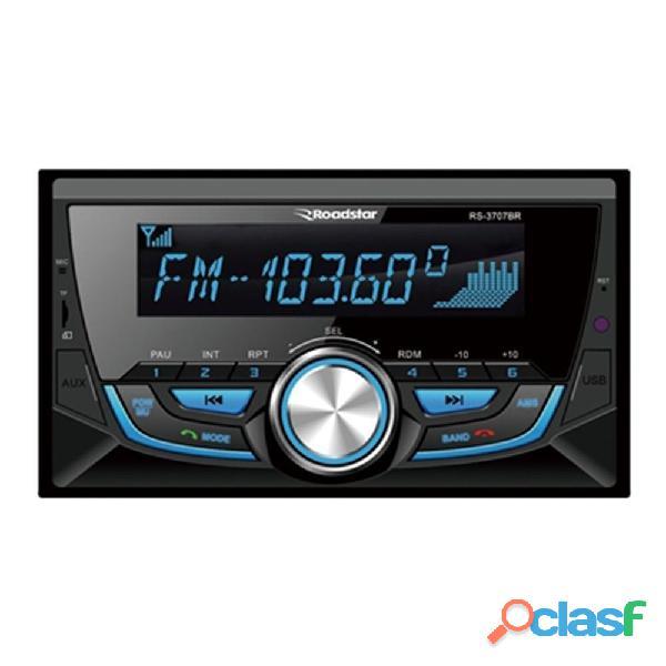 Auto rádio mp3 player – roadstar – double din com painel frontal fixo