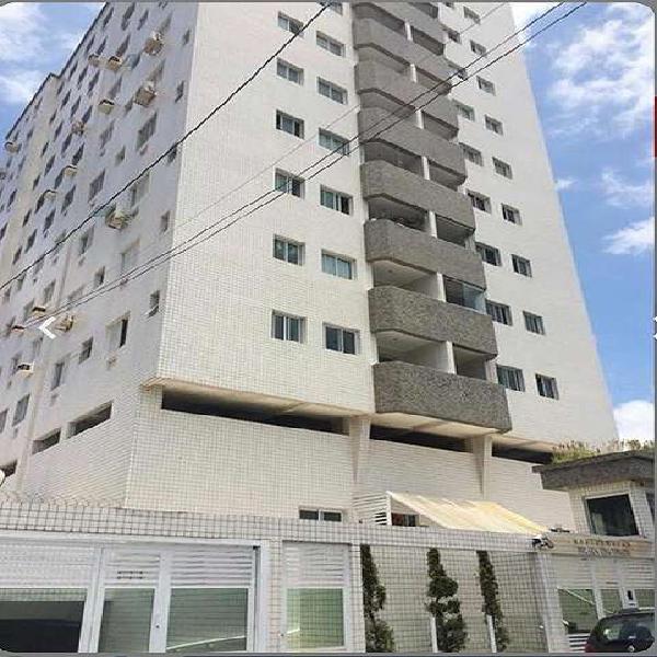Apartamento de 2 dormitórios com suíte. Guilhermina, Praia