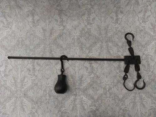 Balança antiga romana varão 125 kg completa frete grátis