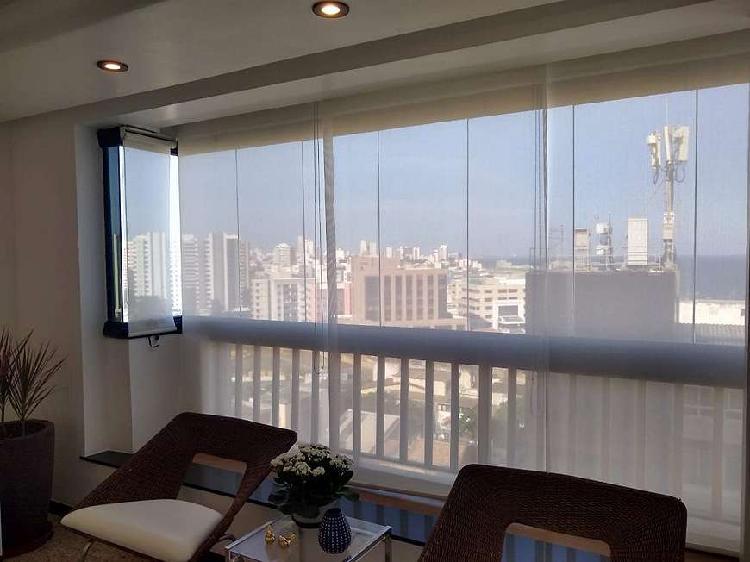 Belíssimo apartamento vista mar com 3 quartos e 1 suite na