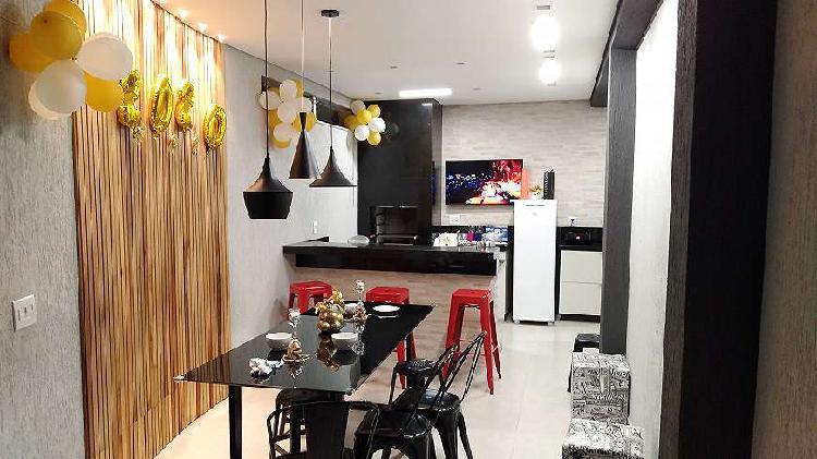 Casa geminada moderna 3 quartos toda mobiliada