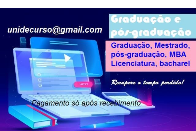 Diplomas universitário ead