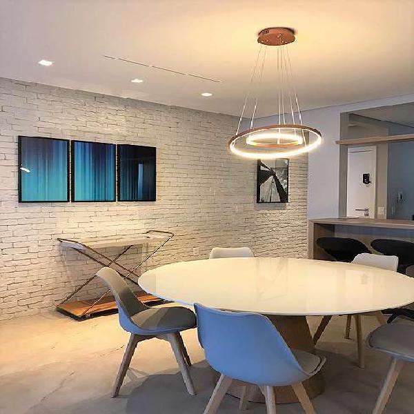 Itaim bibi - apartamento novo mobiliado 2 suítes primeira