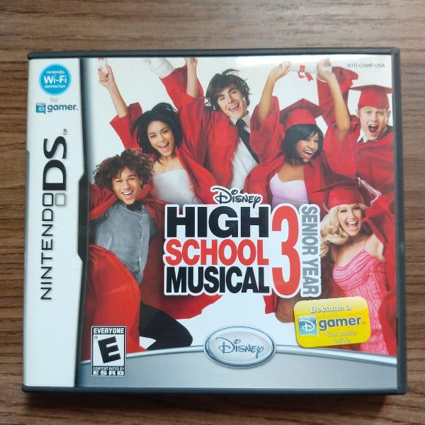 Jogo high school musical 3 para nintendo ds
