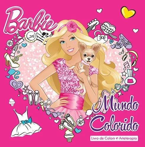 Livro mundo colorido da barbie