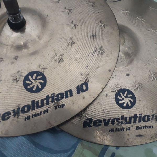 Prato chimbal 14'' hi hats orion revolution 10