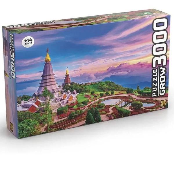 Puzzle quebra cabeça 3000 peças tailândia - grow novo!!!