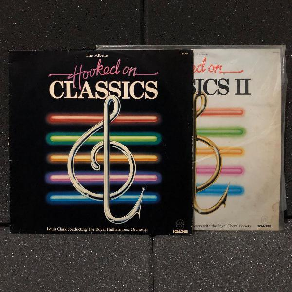 hooked on classics | 2 disco vinyl lp | vol.1 e 2 (1982)