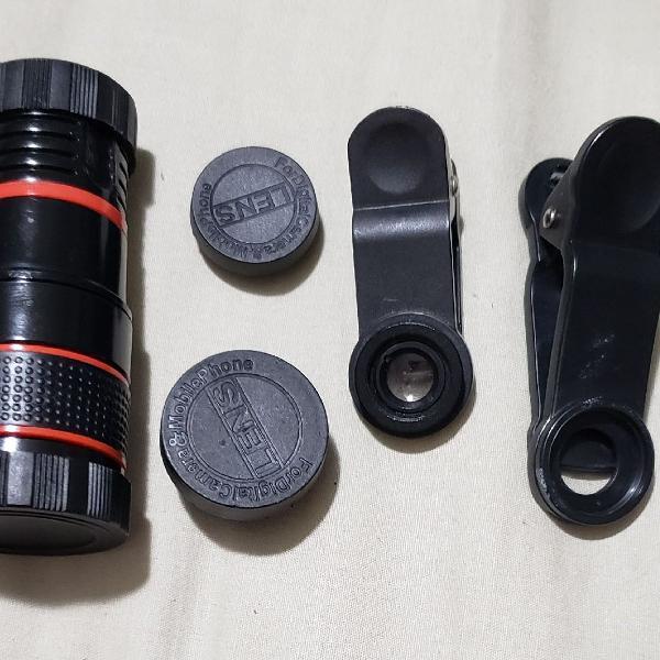 Lente telescópio óptico para celular