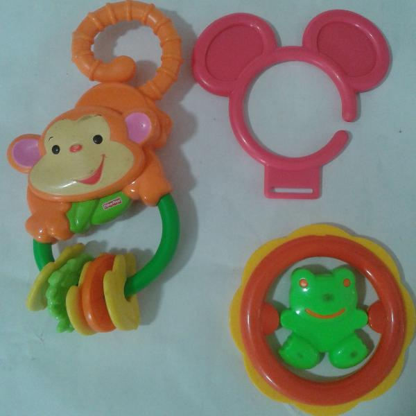 Lote brinquedo para bebê fisher price mattel década de