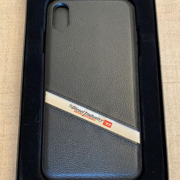 Case em couro original diesel iphone xs max nova importada