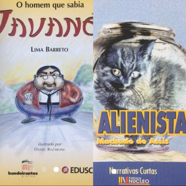 Contos clássicos brasileiros em 2 livros pequenos