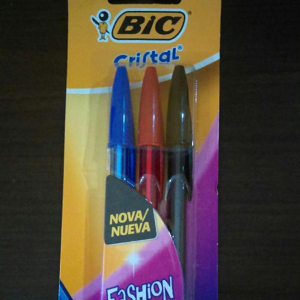 Kit canetas coloridas bic