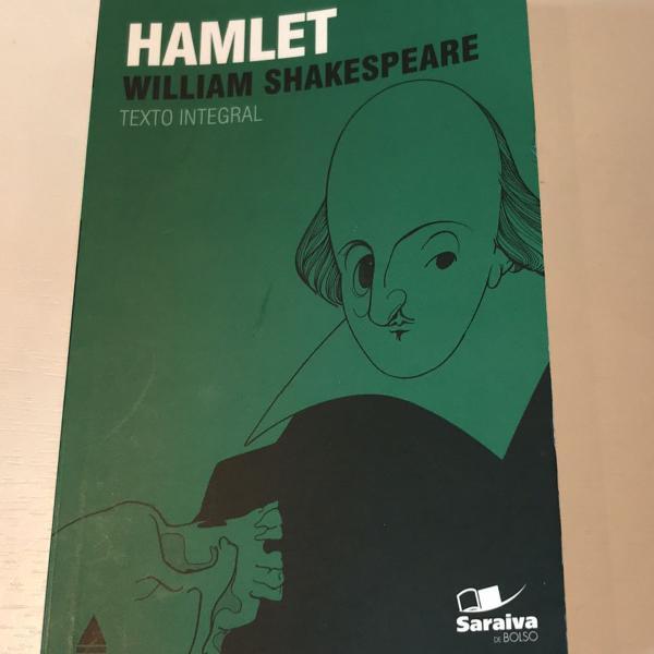 Livro de william shakespeare, hamlet . junto vai um marcador