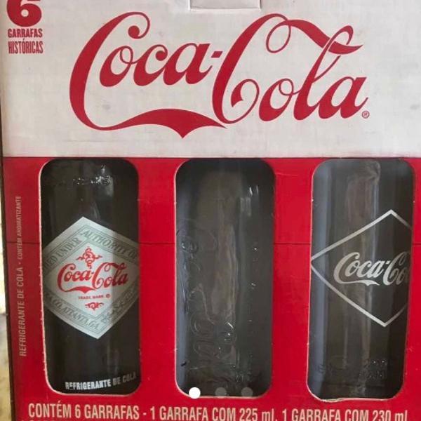 Pack garrafas coca cola edição colecionador