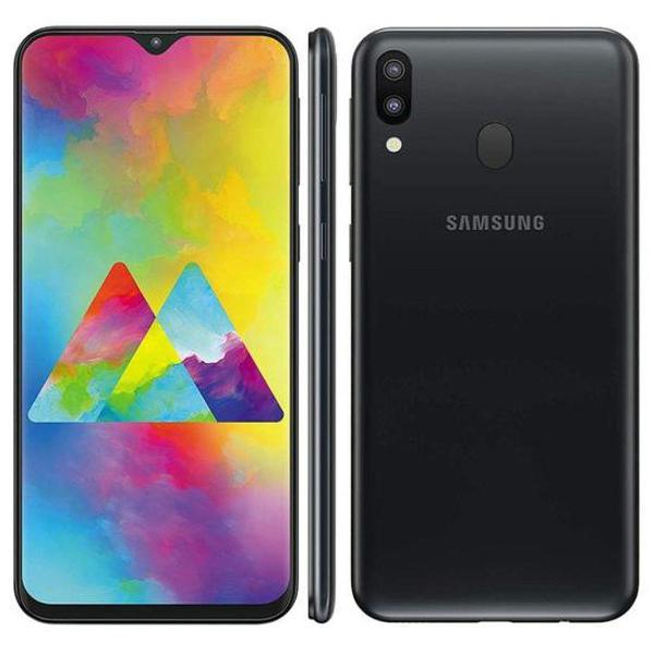 Smartphone galaxy m20 preto 64gb - 4gb ram - novo lacrado na