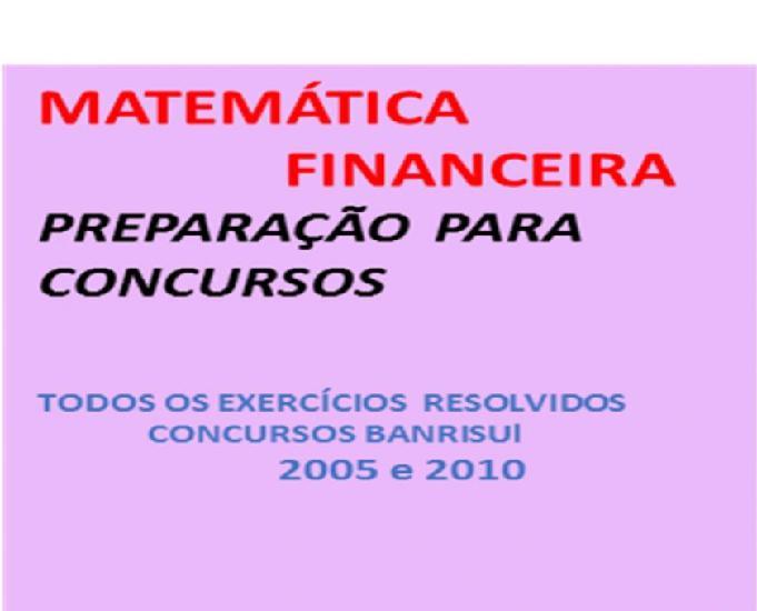 Apostila de matemática financeira para concursos bancários