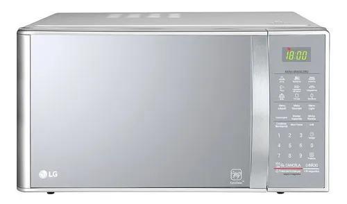 Micro-ondas lg easy clean prata espelhado 30l 220v mh7093bra