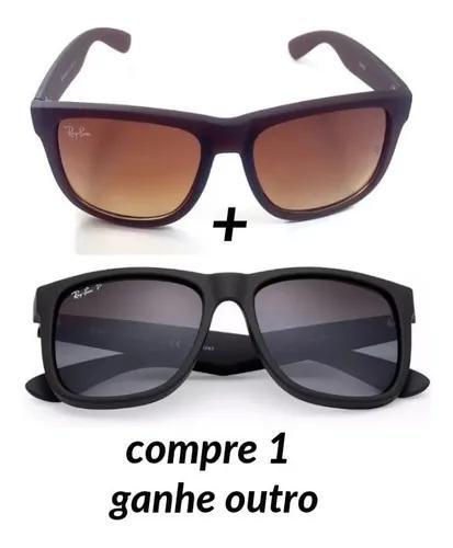 2 óculos de sol polarizado justin rb wayfare frete grátis