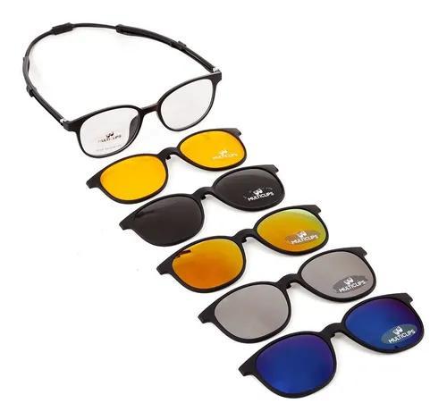Armação de óculos clip on p/ grau redondo 6